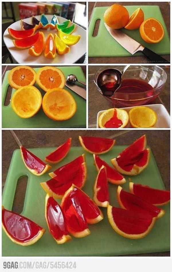 Orangenwackelpudding
