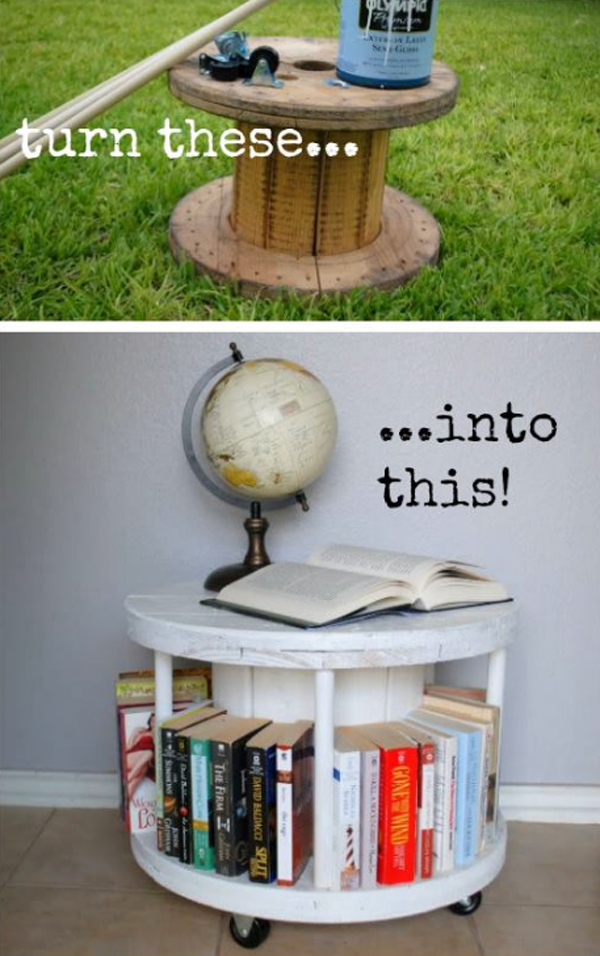 Mobile Spool Bookcase
