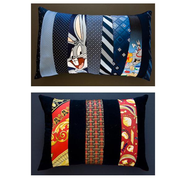 Krawatten-Kissen
