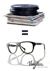 Brillenrahmen aus Schallplatten