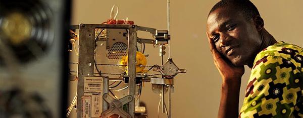 Ein 3D-Drucker aus Elektroschrott