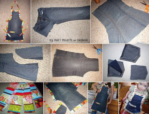 Jeans-Schürze
