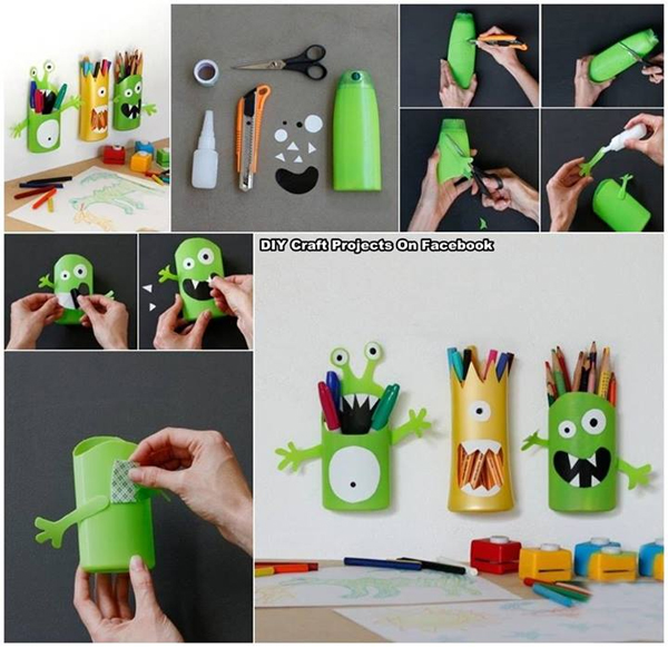 Monster stifte halter monsterpencilholder rethink for Best out of waste topics