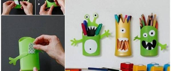 monster stifte halter monsterpencilholder rethink recycle rethink recycle. Black Bedroom Furniture Sets. Home Design Ideas