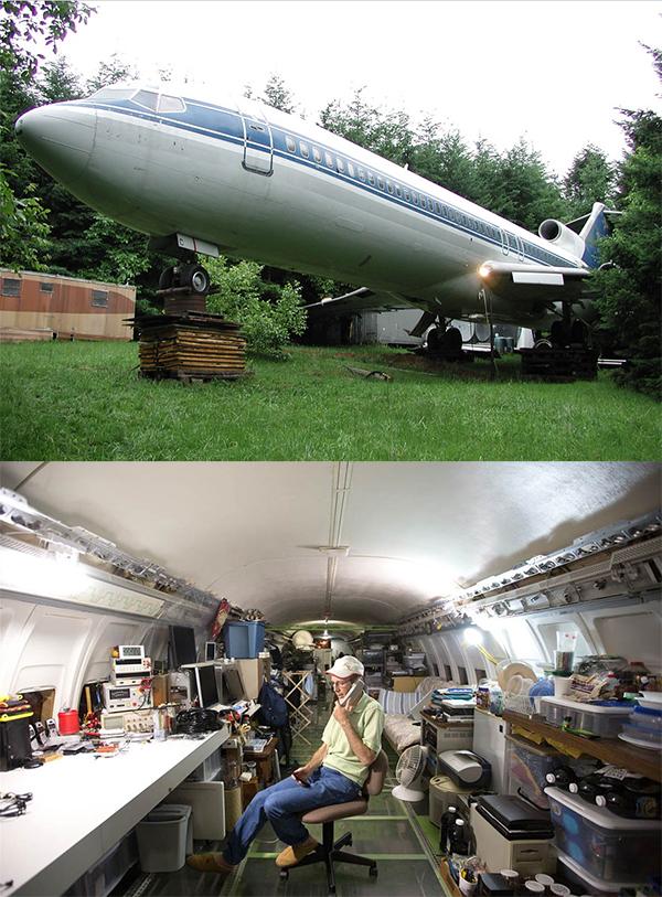 Leben im Flugzeug