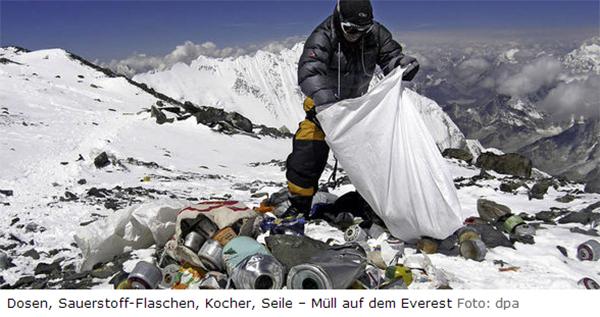 Müll auf dem Mount Everest