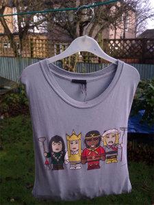 Wäscheklammer-Beutel aus altem T-Shirt