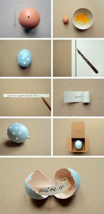Anleitung: Wie verstecke ich eine liebe Botschaft in einem Ei