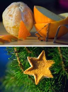 Orangen-Weihnachtsbaum-Schmuck