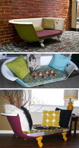 Alte Badewanne - Neues Sofa