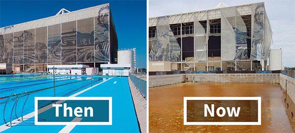 Was noch von den Olympischen Spielen in Rio übrig ist...