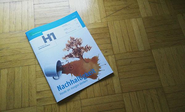 H1-Magazin der Uni Bielefeld über Nachhaltigkeit