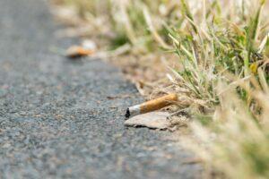 Zigarettenstummel am Wegesrand