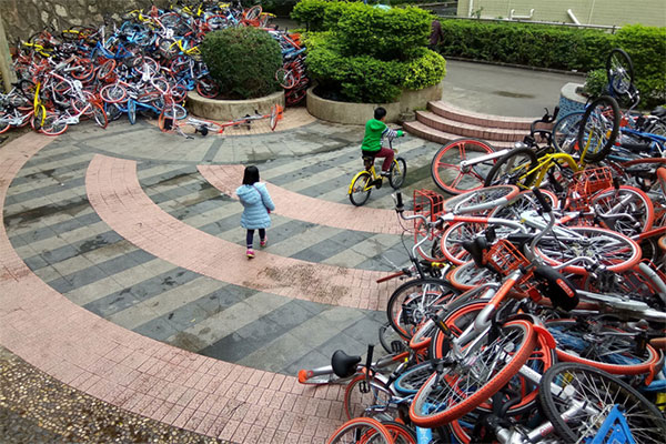 China hat ein Bike-Sharing-Problem