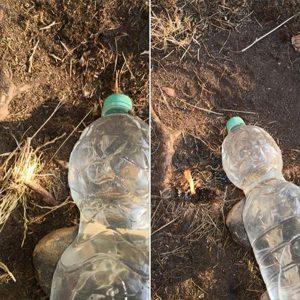 Achtung! Plastikflaschen können Brände auslösen!