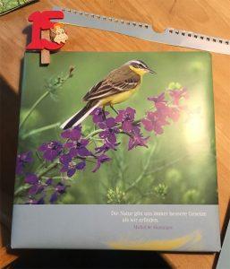 Kalenderblätter als Geschenkverpackung