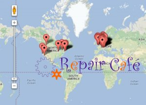 Repair Café Map of the world