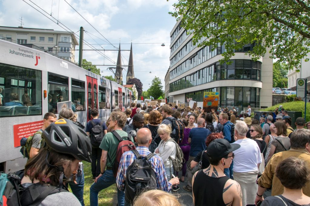 Foto: FFF - Demo in Bielefeld