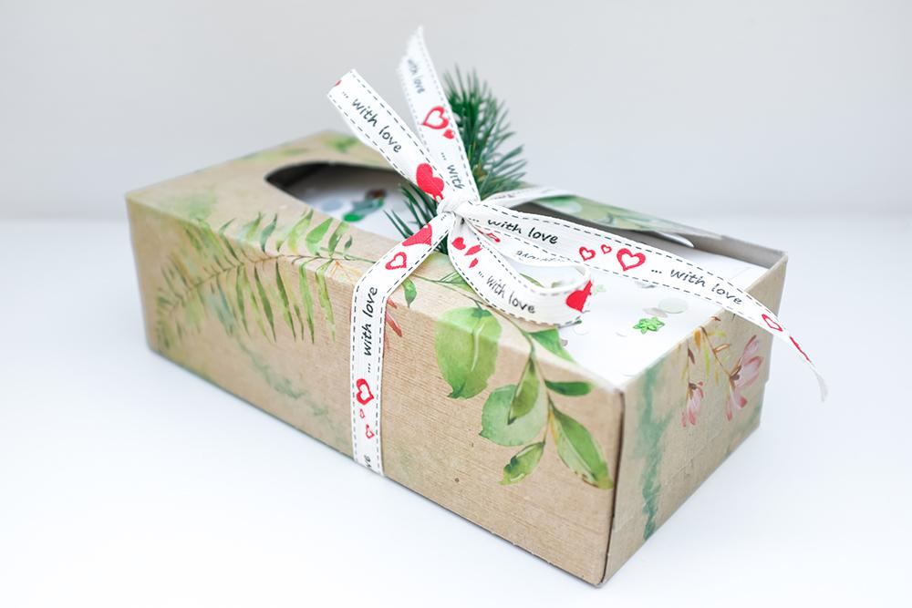 Brief-Adventskalender aus einer Taschentücher-Box