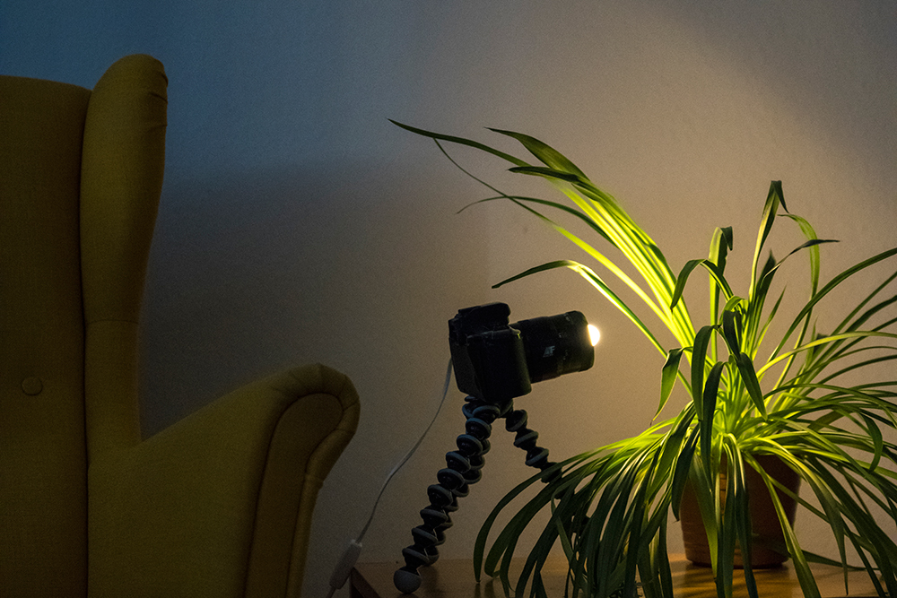 Selbstgebaute Kamera-Lampe
