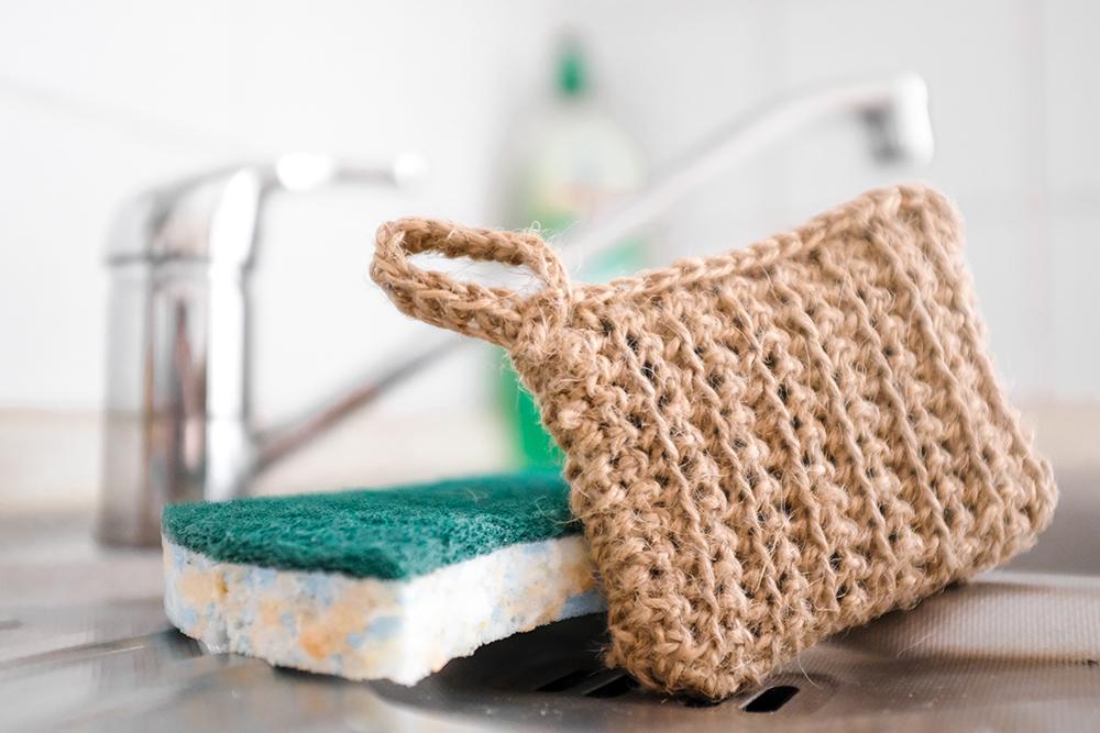 Nachhaltigen Spülschwamm selbst häkeln