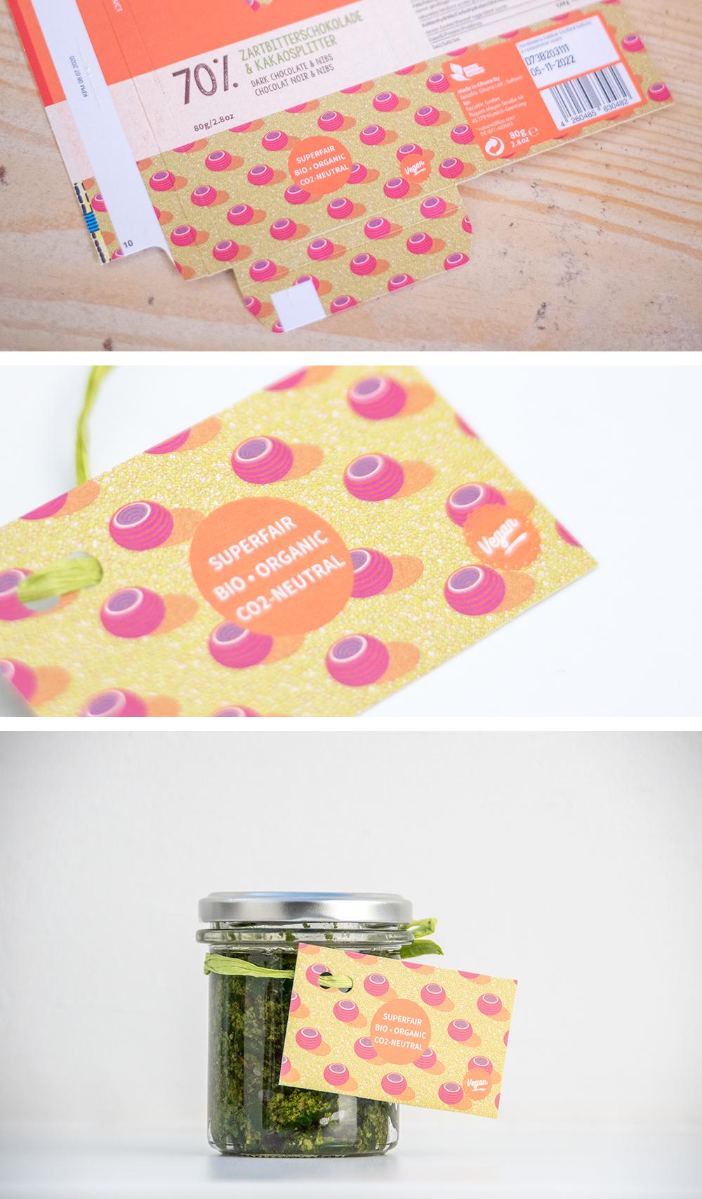 Geschenkkarte aus Verpackungsmüll