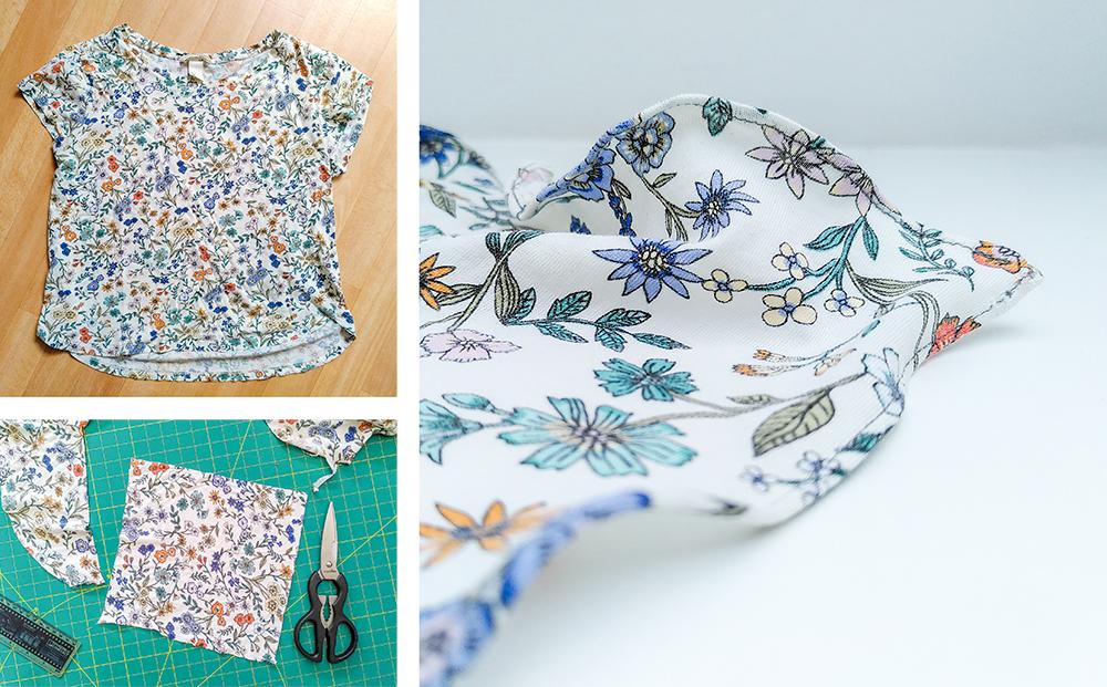 Vom T-Shirt zum selbstgenähten Taschentuch